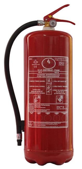 12 LT Köpüklü Yangın Söndürücü