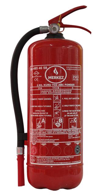 6 Kg Toz Yangın Söndürücüler