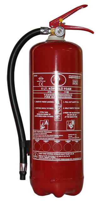 6 LT Köpüklü Yangın Söndürücü